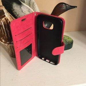 Pink lather case for iPhone 7